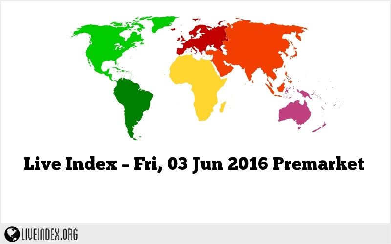 Live Index – Fri, 03 Jun 2016 Premarket