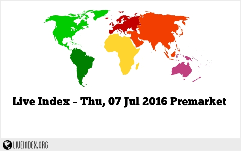 Live Index – Thu, 07 Jul 2016 Premarket