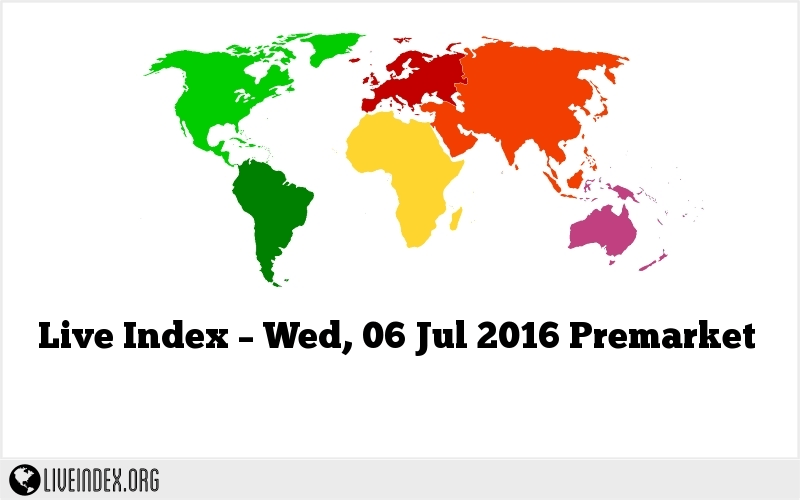 Live Index – Wed, 06 Jul 2016 Premarket