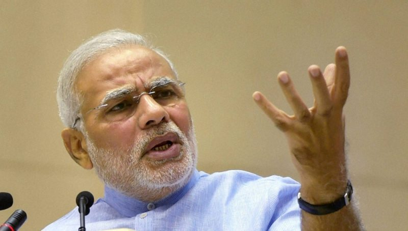 India : Modi calls for move towards cashless society