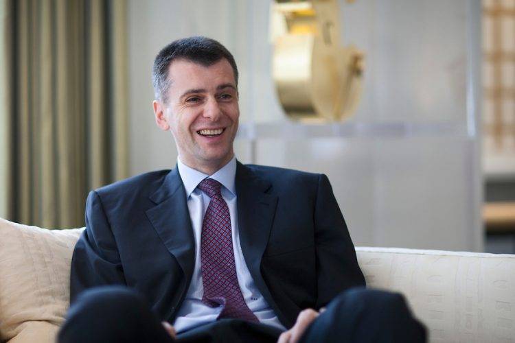 Russia : Tycoon Prokhorov's Onexim Group selling all its assets