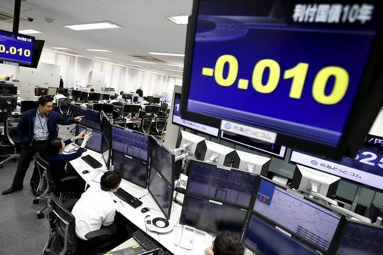Japan : JGBs slip, tracking retreat by U.S. Treasuries