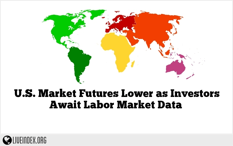U.S. Market Futures Lower as Investors Await Labor Market Data