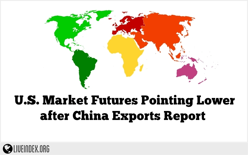 U.S. Market Futures Pointing Lower after China Exports Report