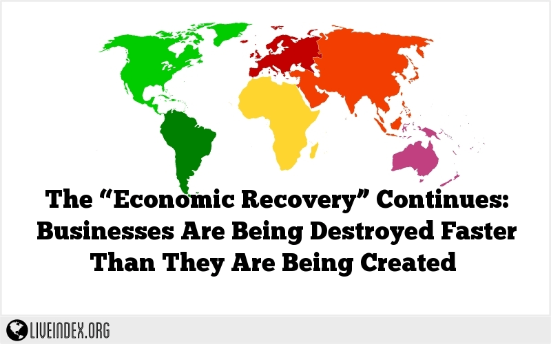 "The ""Economic Recovery"" Continues: Businesses Are Being Destroyed Faster Than They Are Being Created"